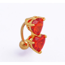 CZ Heart Piercing Body Jewellery