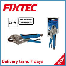 "Fixtec Hand Tools 10"" CRV Curved Jaw Lock Plier"