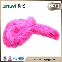 stylish dyed genuine sheep fur Scarf