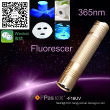Poppas F16UV Portable High Power Laser Pointer LED 365nm UV Flashlight Torch
