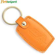 Customer Logo PU Leather Keychain