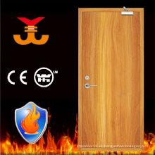 UK Standard BS 60mins puertas de madera contra incendios residenciales