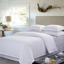 Satin Strip Hotel Cotton Bedding Set with Comforter Set (WS-2016063)