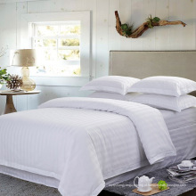 Cetim strip hotel cama de algodão conjunto com conjunto de edredon (WS-2016063)