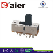 SS23F02 Daier Electrical slide switch made in China 3 position slide switch