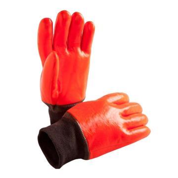 Оранжевые Зимние рабочие перчатки с полным покрытием