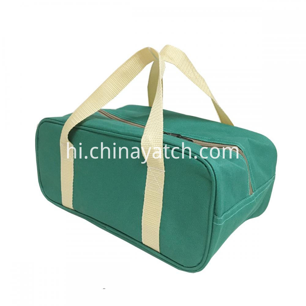 Green Cuboid Cooler Bag