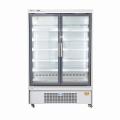Upright glass door display freezer for supermarket