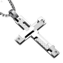 Religion Schmuck Russische Doppelschicht Stahl Orthodoxe Kreuz Anhänger Halskette