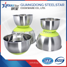 Silicone Bottom Stainless Steel Salad/Egg Mixing Bowl