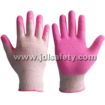 Work Glove with Pink Latex Coated (LDF8057)