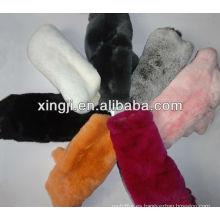 Tejido de piel de conejo rex teñido y natural de calidad superior de conejo