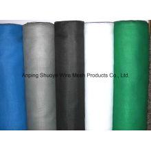 Tela mosquiteira de fibra de vidro revestida preta / mosquiteiro de fibra de vidro / tela contra insetos