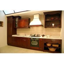 Armário de cozinha Gabinete de madeira maciça