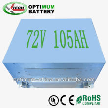 72V 105ah LiFePO4 Battery for Hybrid or Pure Electric Vehicle