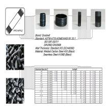 Threads Carbon Steel Pipe Nippel Koppler