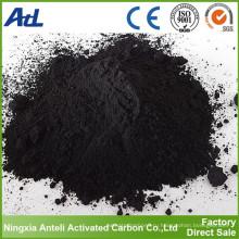 Черный порошок древесного угля уголь активированный