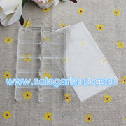 6*11*1.4 CM Clear Plastic Jewelry Box Storage