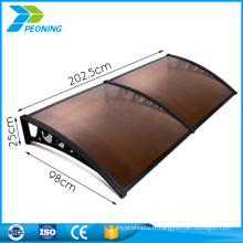 Toile de porte médiocre Feuille polycarbonate mécanique incassable de 6 mm