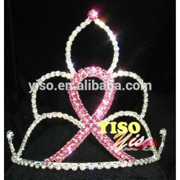 crystal ribbon queen trhinestone birthday rhinestone bridal tiara