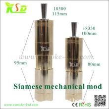 Mechanical mod 18350 18500 battery Siamese mod