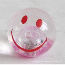 65mm High Glitter Led Bouncy Rubber Water Ball