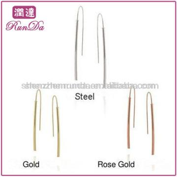 Accessoire de mode 2013 en acier inoxydable Stick Drop Long Fashion Earring