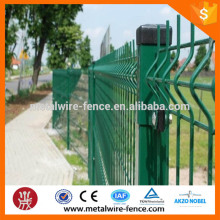 Low price PVC coated Steel Wire Mesh Fence/galvanized welded wire fence panels/pvc coated wire mesh fence