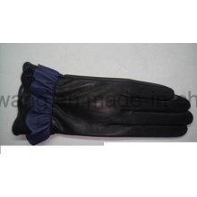 Модные леди Теплые кожаные перчатки / рукавицы