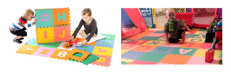 Multi Coloured Puzzle Mat Product Application