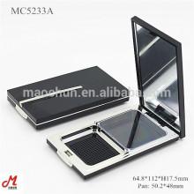 MC5233A Kunststoff-Kosmetik-Kompakt-Schleppkuchen-Pulverkoffer
