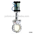 China fez venda quente POV wafer válvula de porta faca pneumática