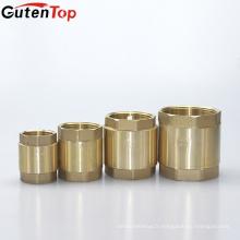 Gutentop haute qualité en laiton soupape de non-retour ressort vertical inline stop clapet anti-retour avec noyau en plastique