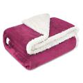 Custom Double Layer Sherpa Fleece Blanket