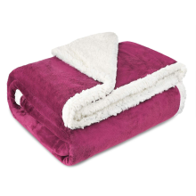 Custom Double Layer Sherpa Fleece Blanket