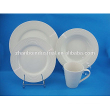 European Restaurant Ceramic White Dishware