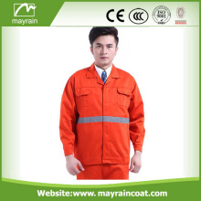 Reflective Fluorescent Orange Safety Jacket With Pockets