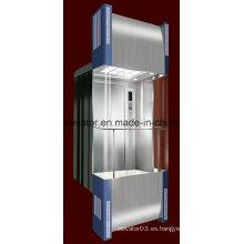 Cuadrado forma panorámica ascensor con 3 lados de vidrio (JQ-A034)