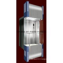 Ascenseur panoramique en forme carrée avec verre à 3 côtés (JQ-A034)