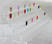 72 Tips Color Sticks Nail Art Practice Clear Acrylic Professional Display Stand + Ring Display