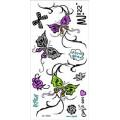 Etiqueta engomada del tatuaje del cuerpo temporal del polvo del brillo de la nueva llegada (diseño de encargo)