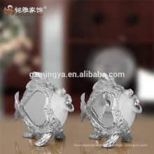 Home decor figurine decorative double fish statue resin fishes figurine