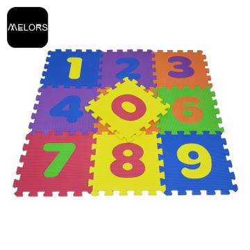 Melors Interlocking EVA Kinder spielen Anzahl Puzzle Mat