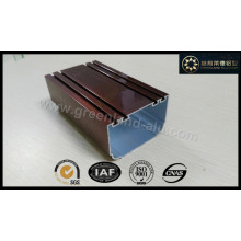 Perfil de alumínio para porta Fame Revestimento eletroforético Bronze Cor