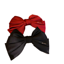 New Fabric Red Black Big Hair Barrettes Bow Knot Fashion Accessories Hairpin Korean Luxury Spring Clip Belle Femme