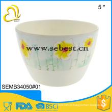 design personalizado melamina vasos de flores rodada vaso de flores de decoração