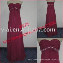 2011 el chifffon atractivo de la fabricación del envío de la gota de la alta calidad rebordeó el vestido de coctel sin tirantes PP2378