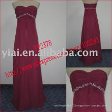 2011 high quality drop shipping manufacture sexy chifffon beaded strapless cocktail dress PP2378
