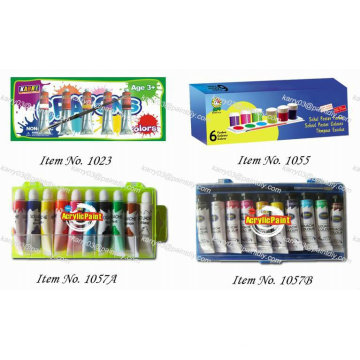 Different water color paint set for kids