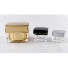 Gesichtscreme Clear Square Acryl Cream Jar